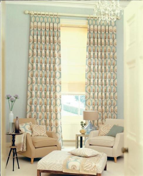 3d шторы в интерьере в фото