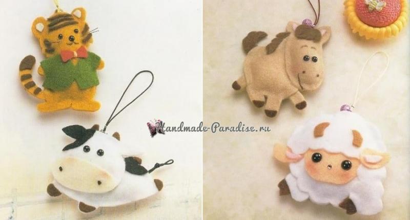 Ангелы, куколки и другие игрушки из фетра. Шаблоны в фото