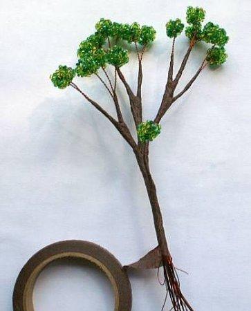 Бонсай из бисера: мастер класс по плетению необычного дерева в фото