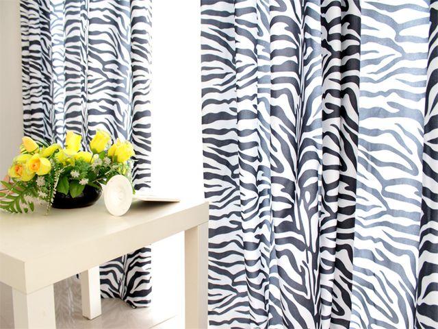 Черно-белые шторы в фото