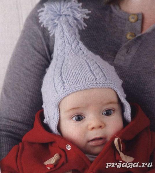 Детская шапка спицами: как связать обновку с ушками для малыша с фото и видео в фото