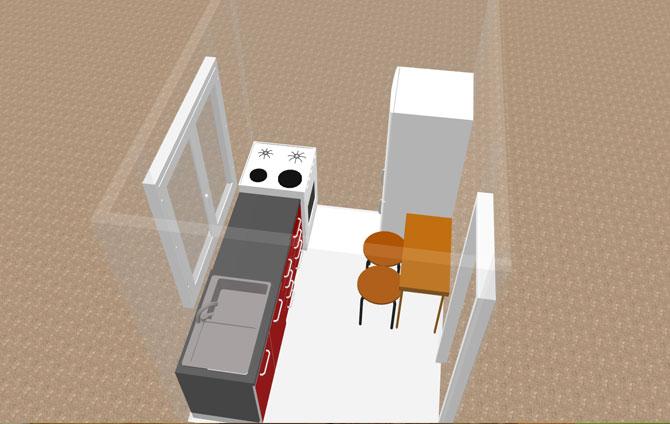 Дизайн кухни 5 кв м с холодильником в Хрущевке
