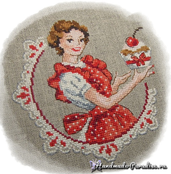 Французский шик. Винтажная вышивка крестом в фото