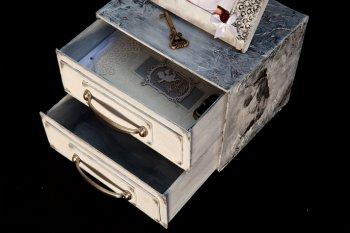 Изготовление картонного комодика в фото