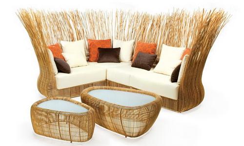 Изысканная мебель из ротанга своими руками в фото