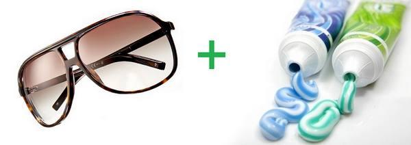 Как убрать царапины со стекол очков в фото