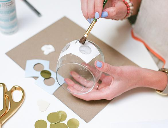 Как украсить стаканы своими руками в фото