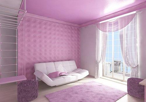 Какого цвета шторы подойдут к розовым обоям в фото