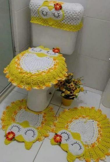 Коврик для ванной крючком: схема с описанием вязания совы в фото