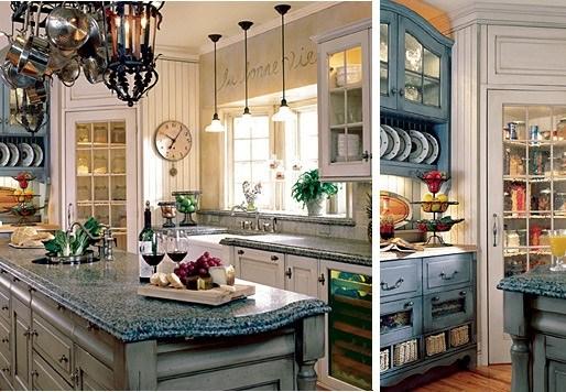 Кухня-столовая в стиле прованс в фото
