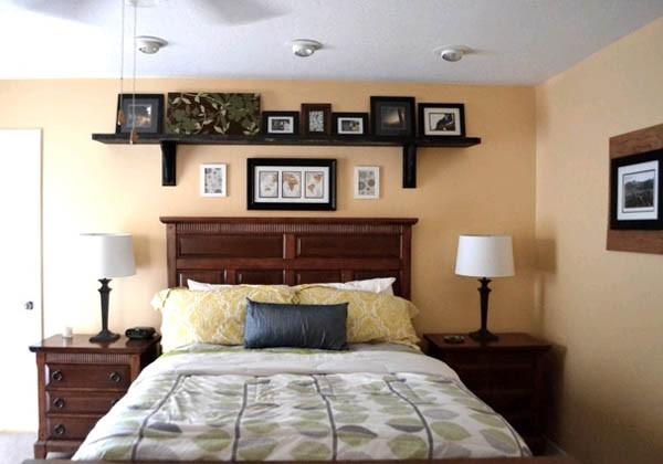Необычное изголовье кровати в спальне своими руками (12 фото) в фото