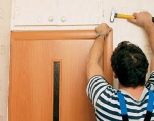 Обналичка двери — поэтаптная инструкция по установке в фото