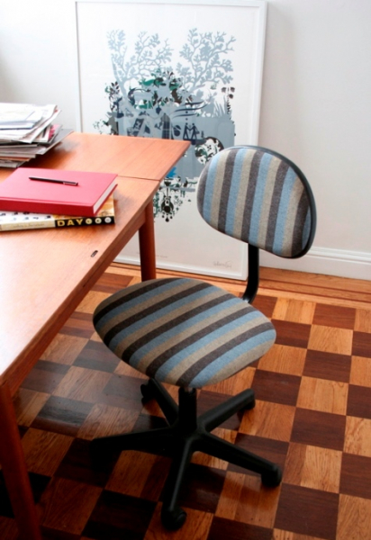 Офисные стулья ручной работы: меняем вид в фото