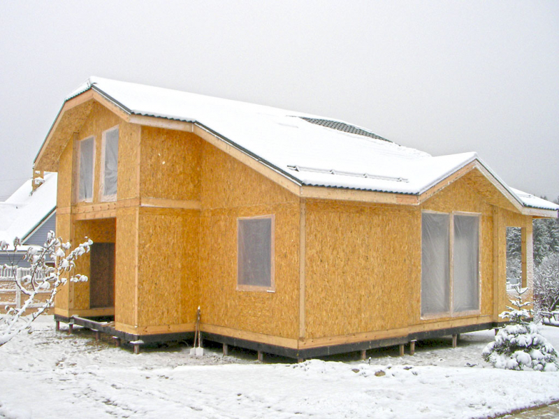 Отделка дома из сип-панелей в фото
