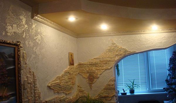 Отделка стен декоративным камнем — красиво и натурально в фото