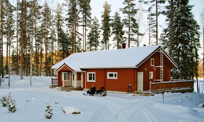 Отопление дачи в зимнее время в фото