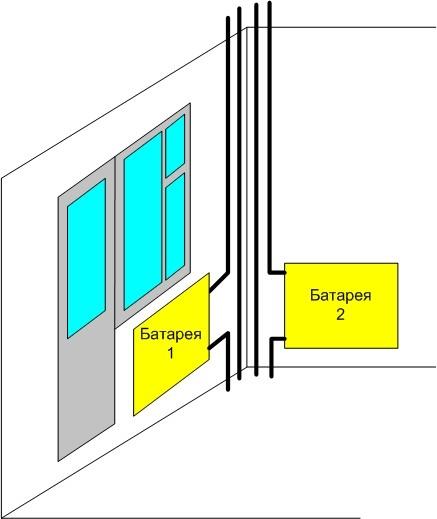 Перенос батарей на балкон своими руками в фото