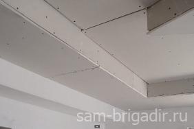 Подвесной потолок из гипсокартона в фото