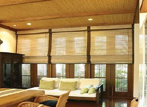 Преимущества бамбуковых рулонных штор в фото