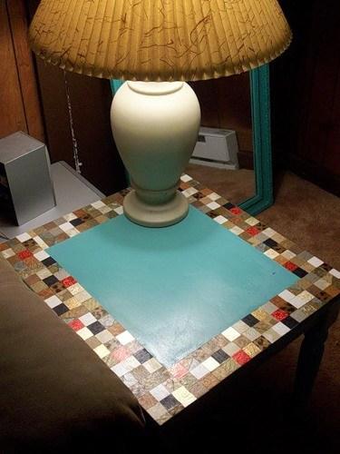 Реставрация мебели — декор стола своими руками в фото