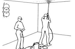 Рисунок на потолке своими руками — техника нанесения в фото