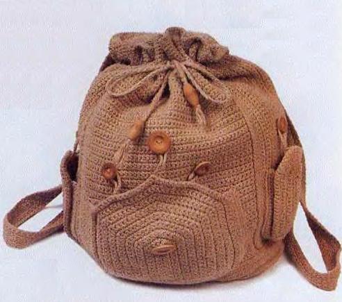 Рюкзак крючком: схема и описание для начинающих с видео в фото