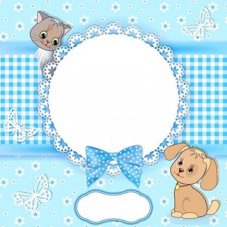 Схема вышивки крестом: «детская метрика для девочки и мальчика» скачать бесплатно в фото