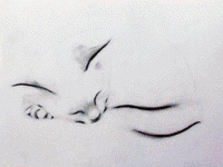 Схема вышивки крестом: «гламурные кошки» скачать бесплатно в фото