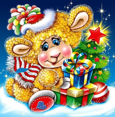 Схема вышивки крестом: «новогодняя овечка» скачать бесплатно в фото