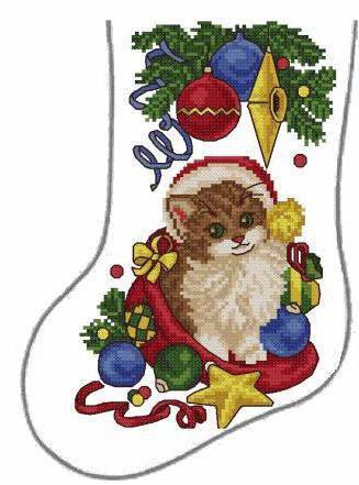 Схема вышивки крестом: «рождественский новогодний сапожок» скачать бесплатно в фото