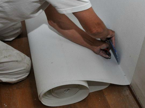 Стеклообои под покраску: оклейка и покраска своими руками в фото