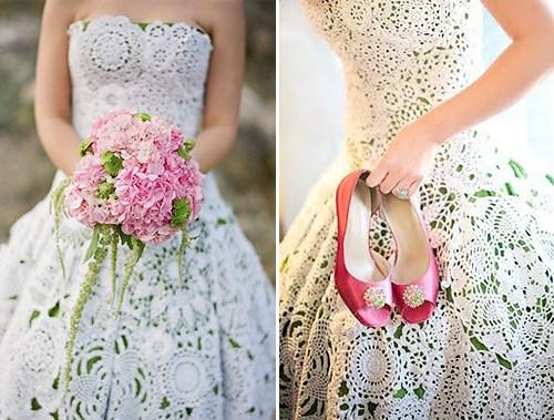 Свадебное платье крючком: схема с описанием и фото в фото
