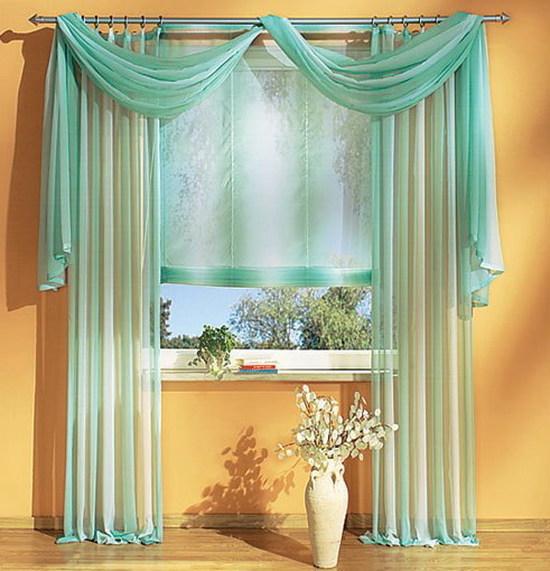 Тройные шторы в интерьере в фото