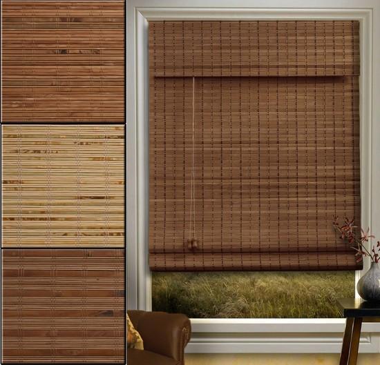 Вешаем бамбуковые жалюзи на пластиковые окна в фото