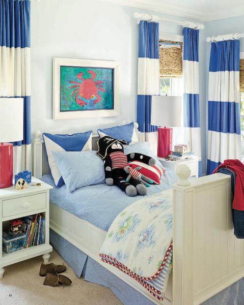 Выбираем шторы для детской комнаты мальчика в фото