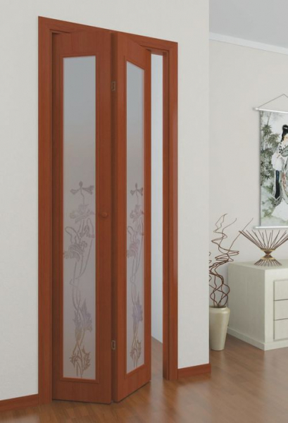 Все про межкомнатные складывающиеся двери: виды, особенности и размеры в фото