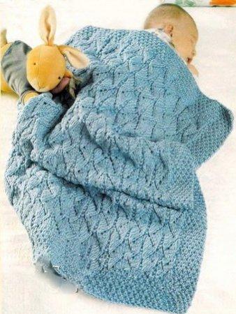 Вязаные пледы для новорожденных со схемами и описанием: схема вязания крючком и спицами в фото