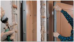 Замена межкомнатных дверей своими руками в фото