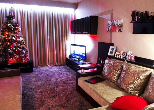 Дизайн квартири під вишневий колір