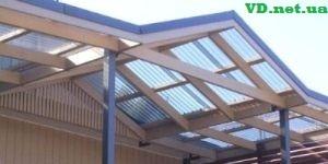 Конструкція покрівлі з прозорого матеріалу