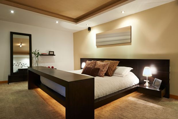 awesome-small-bedroom-lighting-design-and-shutterstock