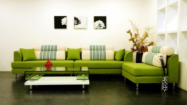 awesome-modern-decorative-pillows-for-sofa-with-green-sofa-also-glass-table-with-a-big-flower-vase-in-the-corner-of-room