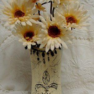 Декор вазы — мастер-класс в фото