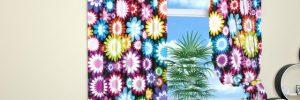 Шторы в цветочек в фото