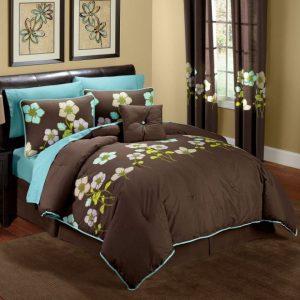 Бирюзовая спальня — способы сочетания и оформления дизайна (60 фото)