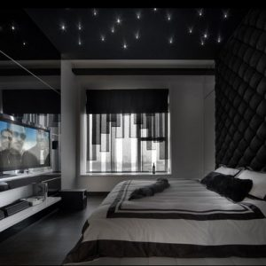 Спальня черного цвета — строгий и современный дизайн (60 фото)