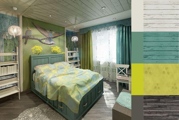 Яркая спальня (1)