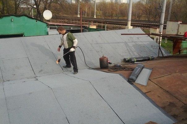 Ремонт крыши рубероидом