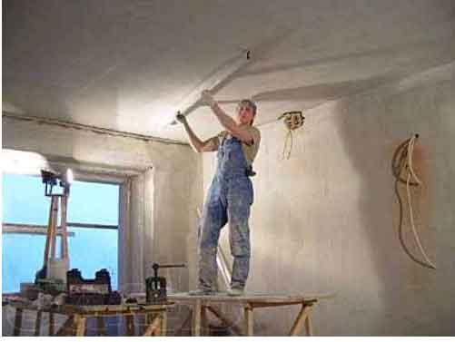 Шпаклевка потолка самостоятельно