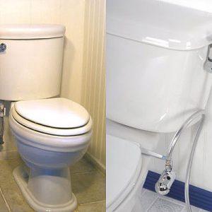 Гигиенический душ в санузле и привлекательные портативные туалеты